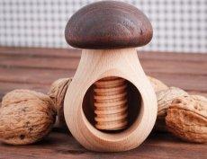 Dziadek do orzechów drewniany MUSHROOM